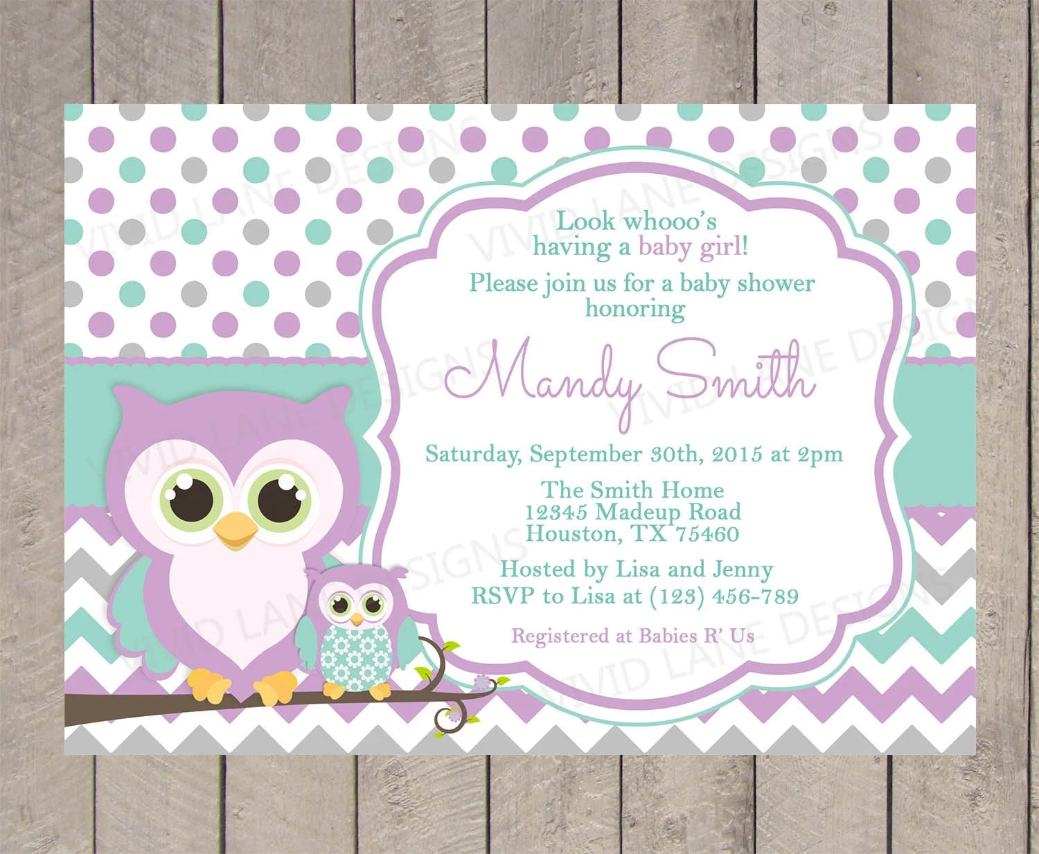 Baby Shower Invitations Owls