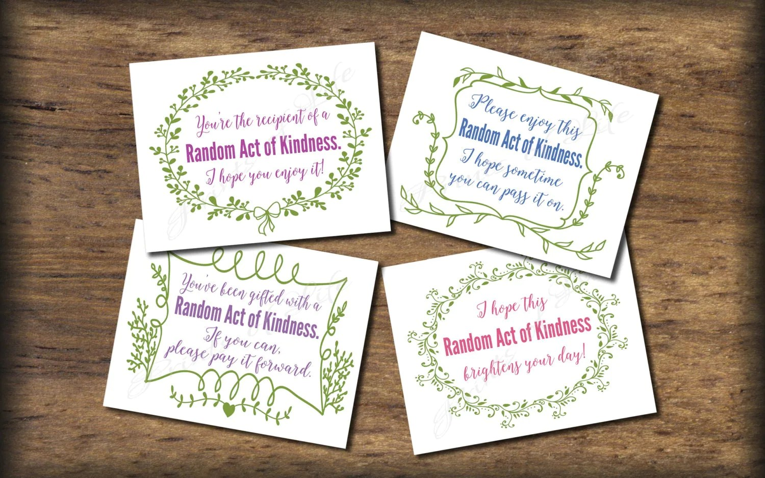 Random Act Of Kindness Cards Instant Download Printable