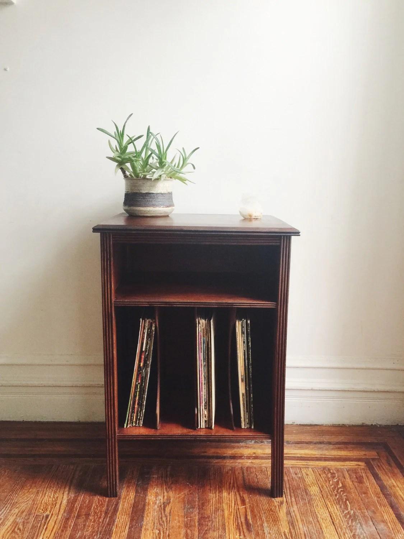 Vintage Record Cabinet Lp Stand Shelf Haute Juice