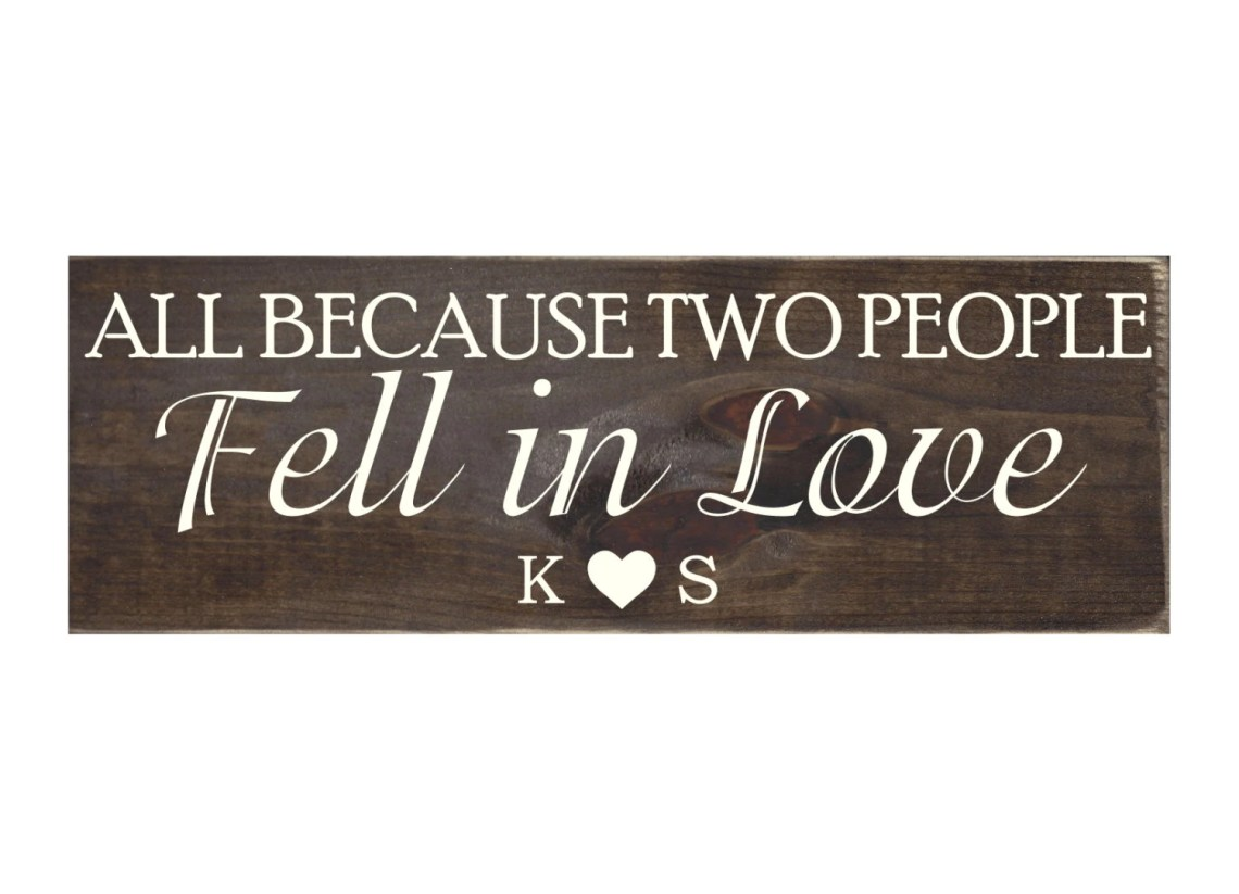 Download All Because Two People Fell in Love Personalized Rustic Wood