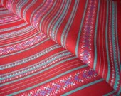 Peruvian Fabric, Andean Fabric, Woven, Red Sanata, 1 Yard