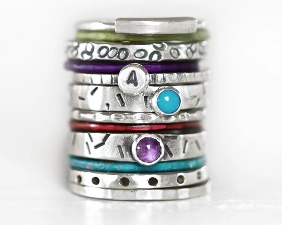 rustic stacking rings