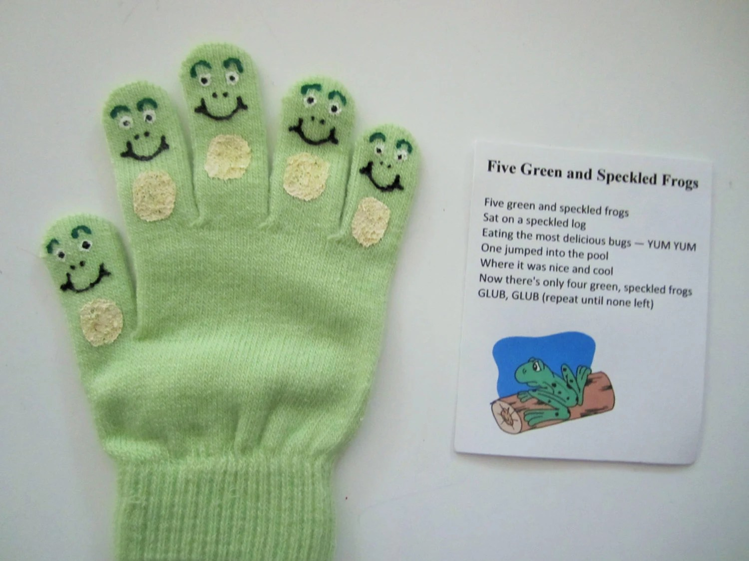 Five Green And Speckled Frogs Hand Puppet Teacher T