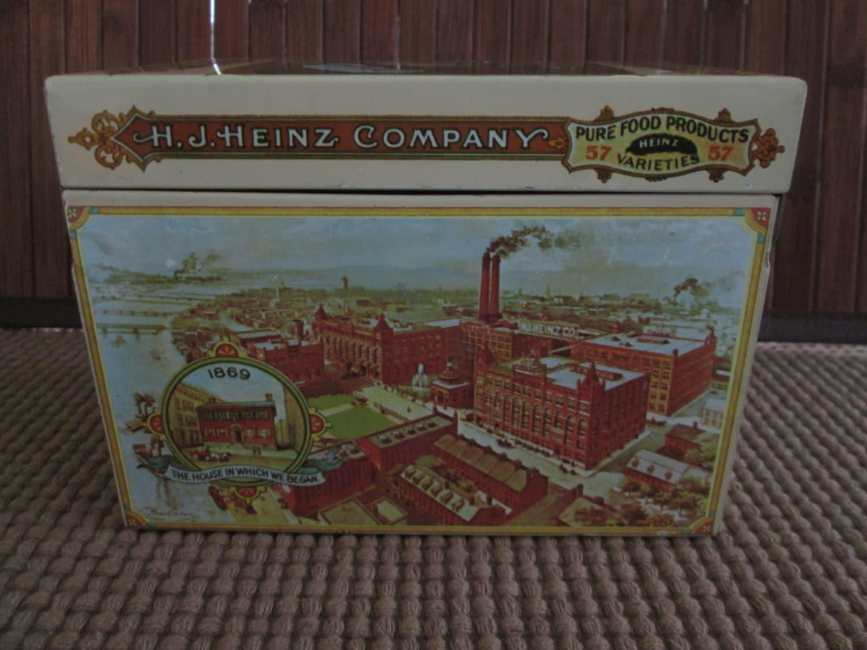Vintage Look H.J. Heinz Company Ketchup Recipe Tin Box