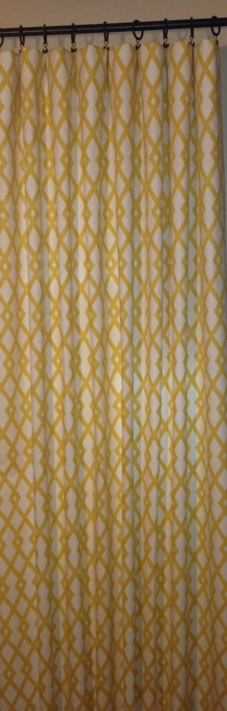 Gray Trellis Curtain Etsy