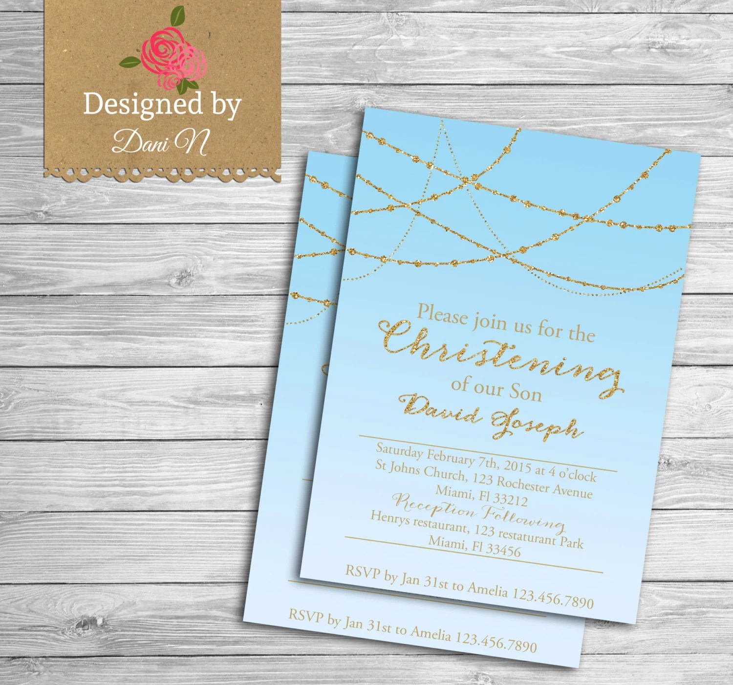 Catholic Christening Invitations