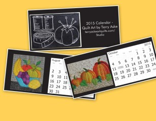 2015 Desk Calendar - Art Quilts by Terry Aske
