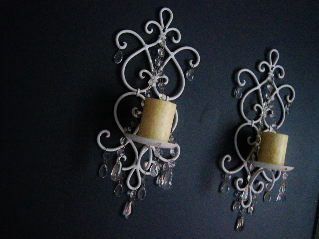Items similar to Non-electric Boroque Style Shabby Couture ... on Non Electric Wall Sconces For Candles id=52684