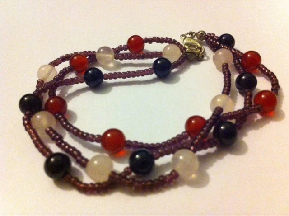 Jolly Gemstone Jumble Bracelet Semi Precious Gemstone Beads