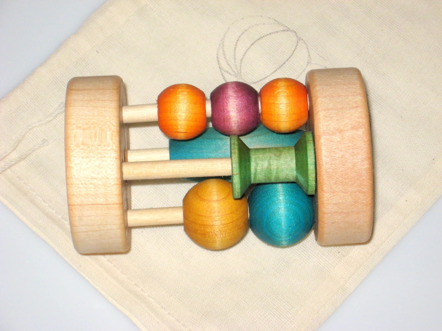 Fiddle Rattle Montessori Baby Toy Wooden Toy Waldorf
