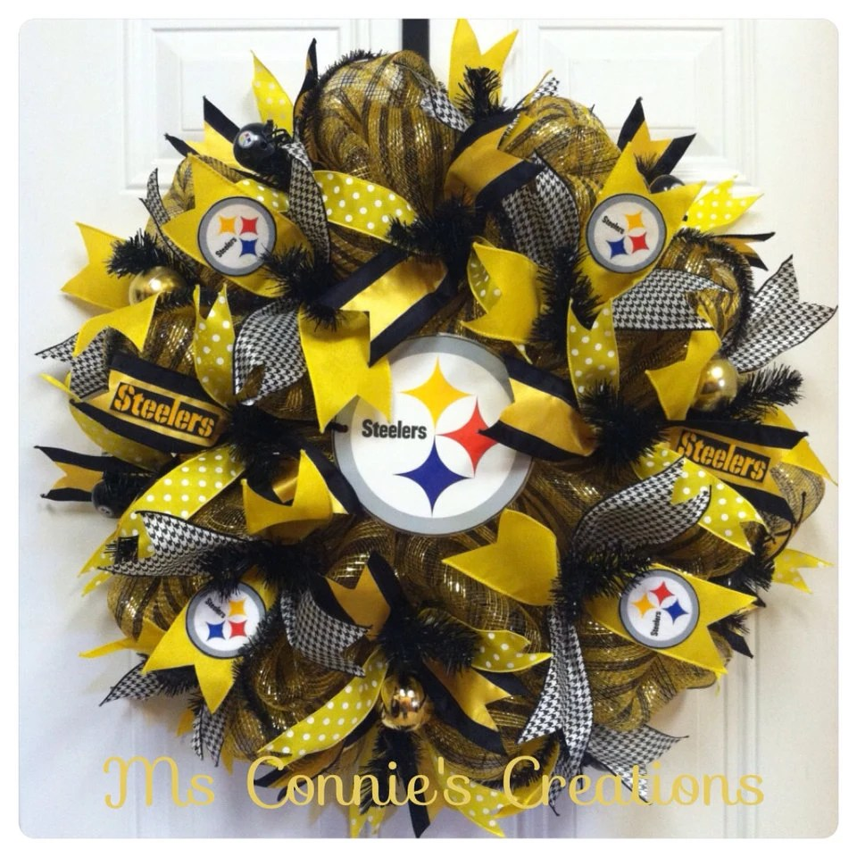 Pittsburgh Steelers Deco Mesh Wreath