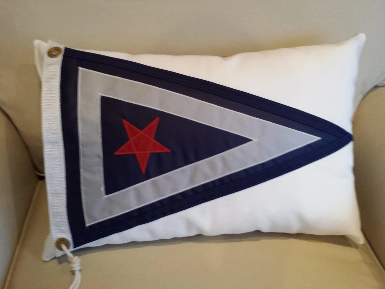 Inner Harbor Yacht Club NY Nautical Pillow By SalvageSistasToo