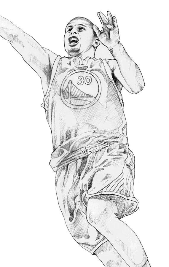 steph curry shoes coloring pages | Steph Curry Shoes Coloring Pages