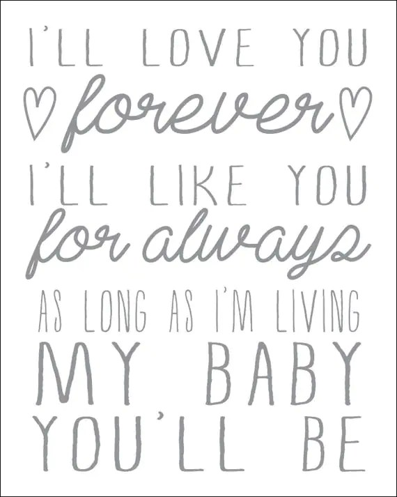 Download I'll Love You Forever I'll Like You for Always As Long