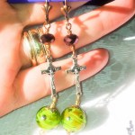 St Benedict  Exorcism Crux  Lampwork Beads