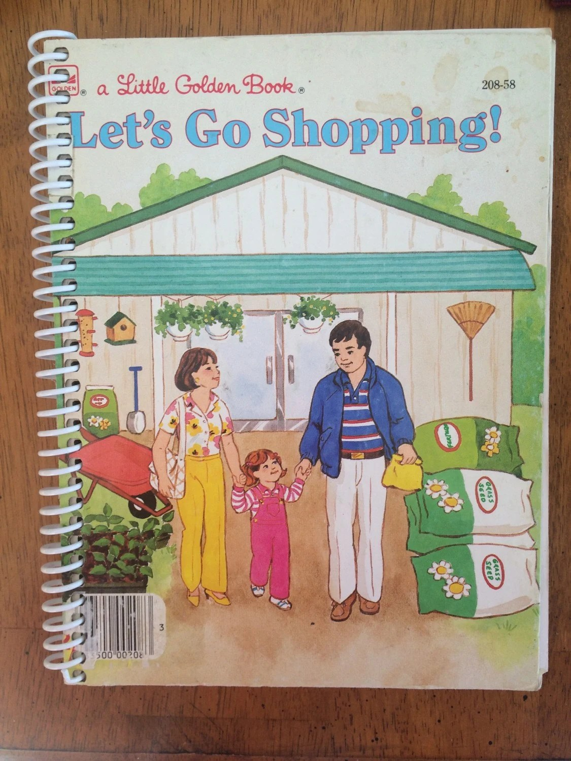 Let S Go Shopping Little Golden Book Upcycled By