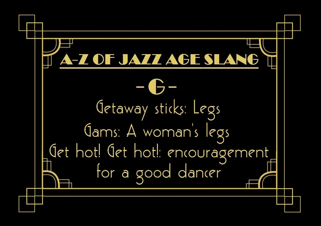 Jazz Age S Slang Words Phrases Sayings Party Decoration