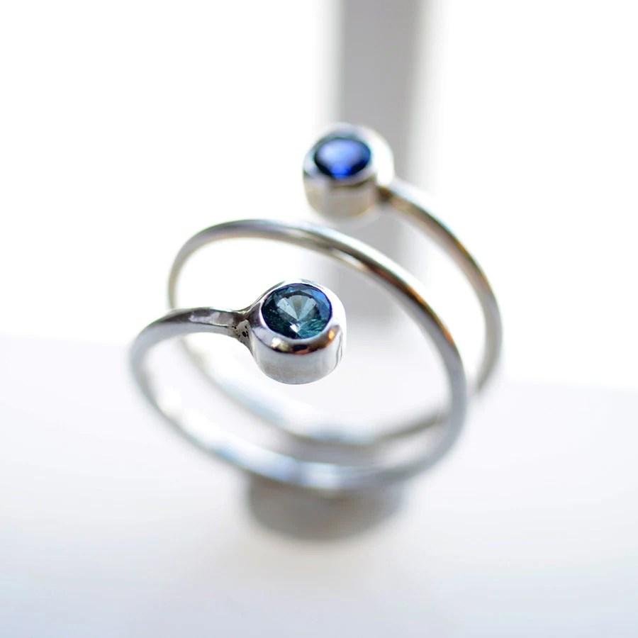 Birthstone Ring Dual Stone Ring Dual BirthStone Ring 2