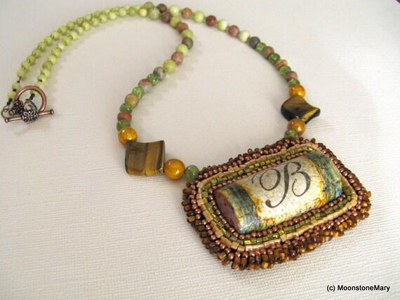 Wine Cork Necklace Handmade Beaded Jewelry Vineyard Jewelry