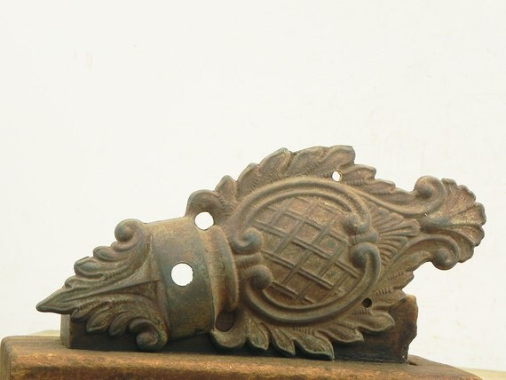 Salvaged cast metal vintage wall sconce backplate Lamp Parts on Wall Sconce Parts id=53458
