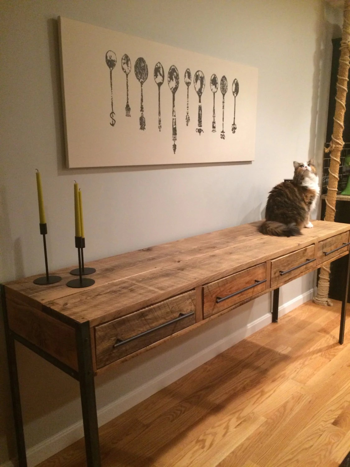 Media Console Tv Stand 81 Metal And Wood