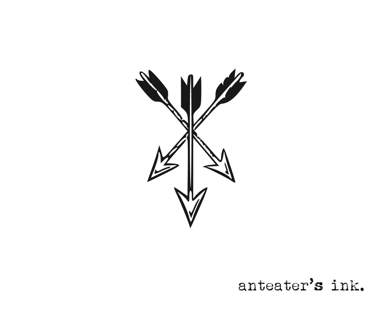 Crossed Arrows Temporary Tattoo Arrows Tattoo