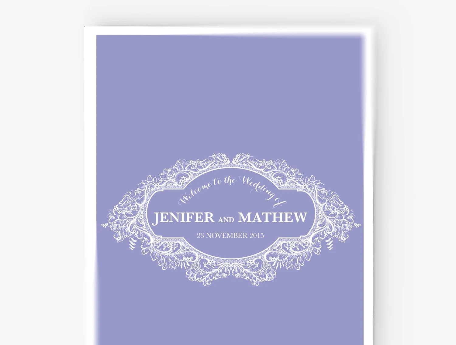 Wedding Program Stationary Paper