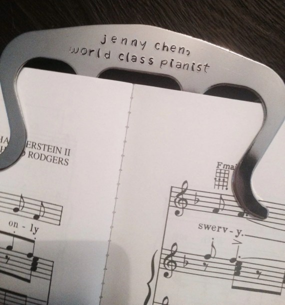 music holder personalized