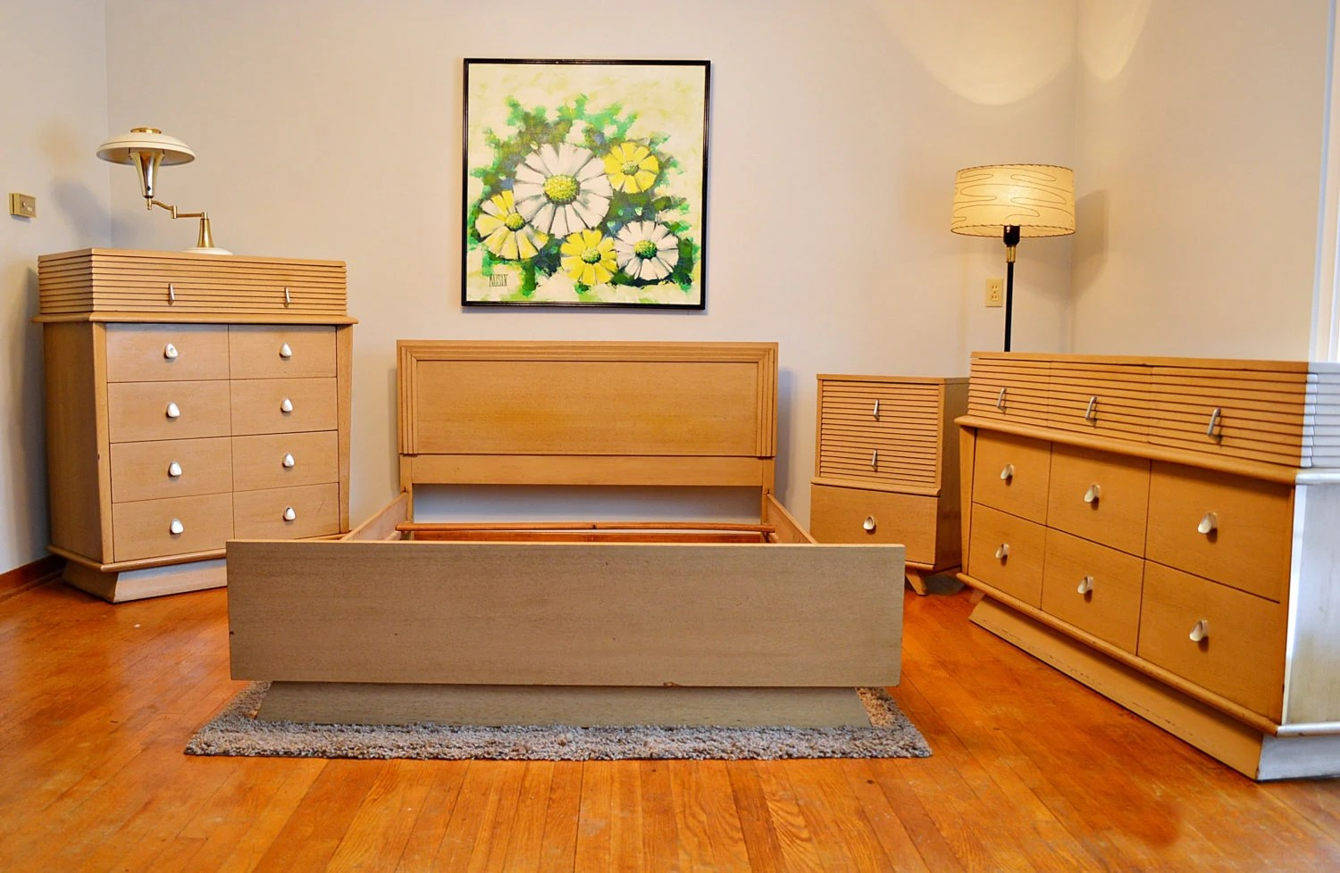 atomic era mid century 4pc american of martinsville bedroom set