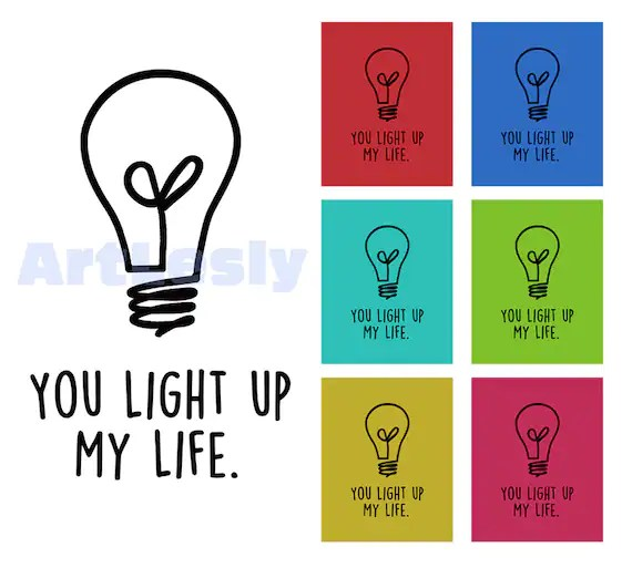 Printable Picture Light Bulb