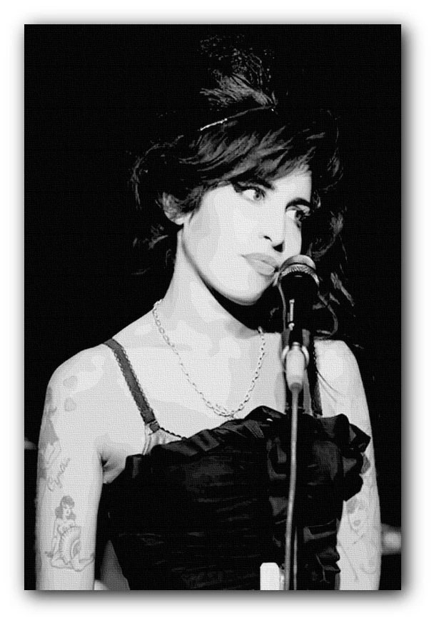 White Black Amy And Poster Winehouse