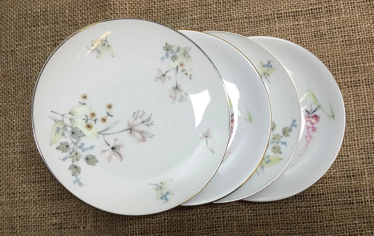 Set Of 4 Tea Dessert Bread And Butter Plates Party Plates Bridal Shower Wedding Vintage