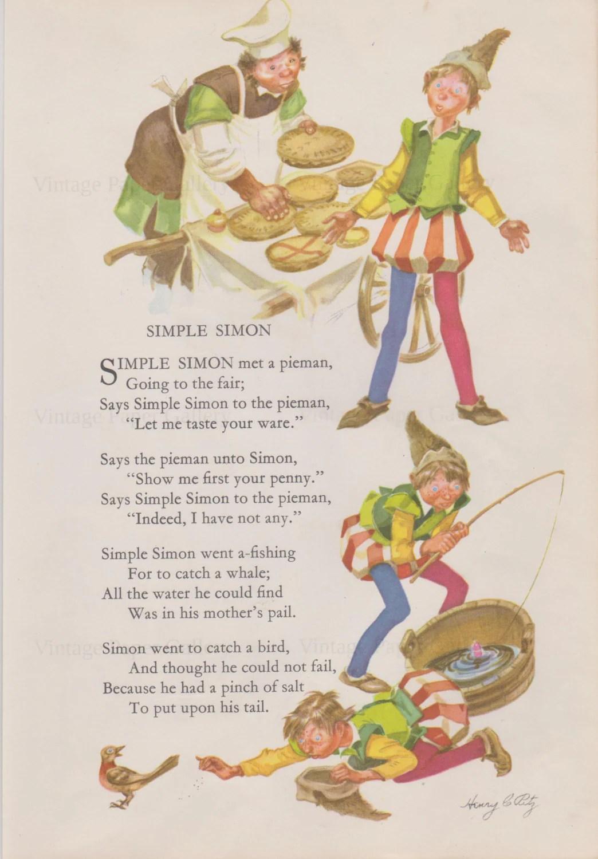 Nursery Rhyme Download Simple Simon Mother Goose Nursery Rhyme