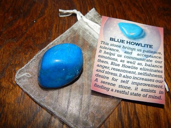 Genuine BLUE HOWLITE Genuine Tumbled Blue Howlite 1 Inch