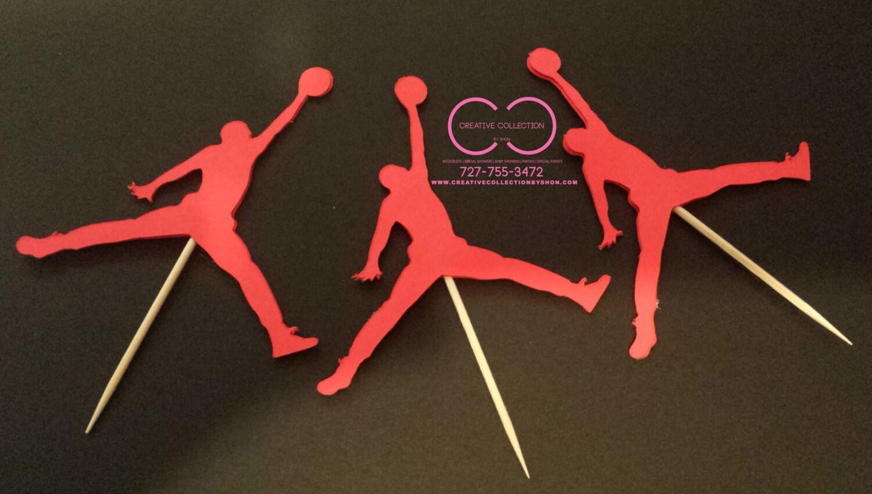 Michael Jordan Cupcake Toppers
