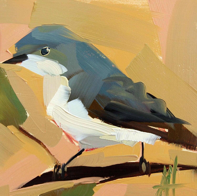 Mockingbird Arkansas State Bird Original Oil Painting By