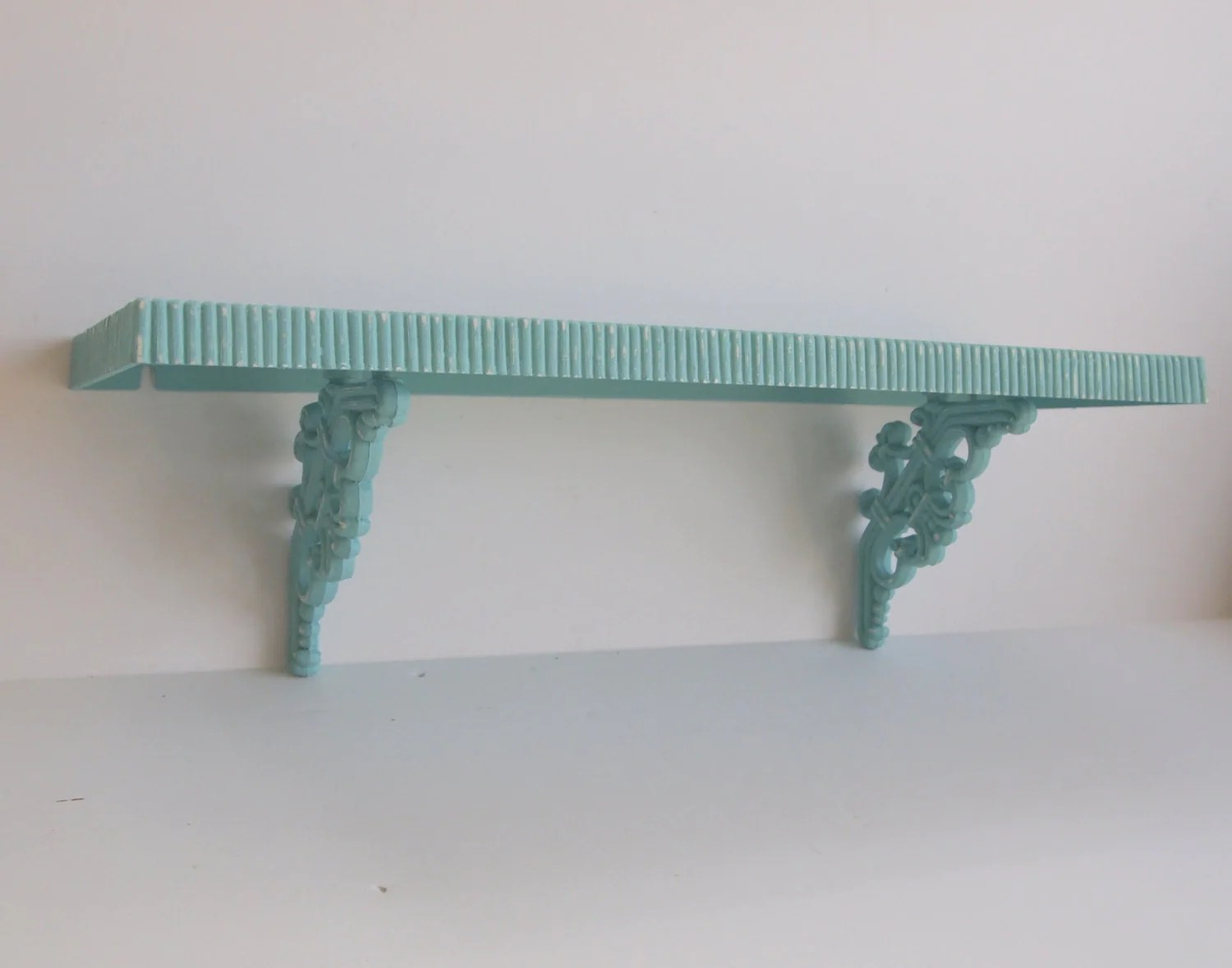 Wall Shelf Vintage Ornate Cottage Chic By MollyMcShabby On
