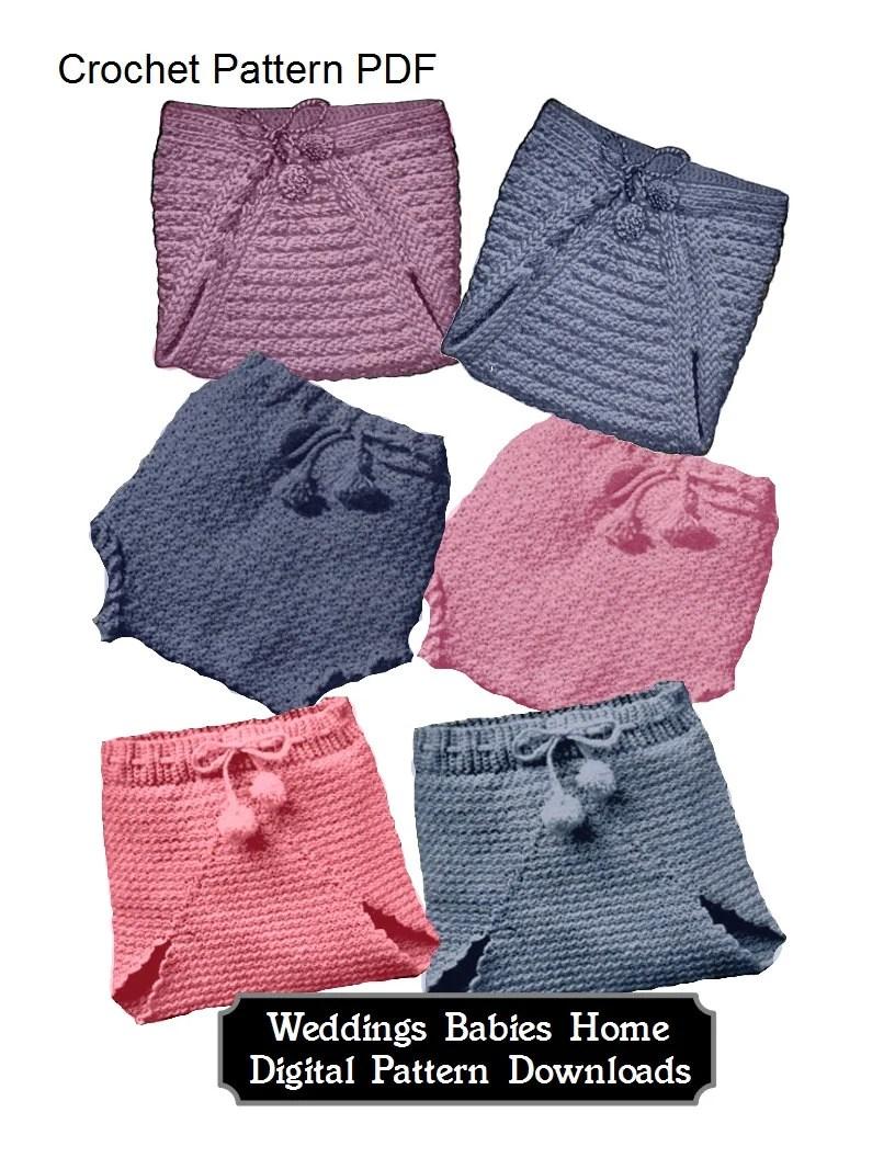 Diaper Cover Attached Crochet Skirt Pattern