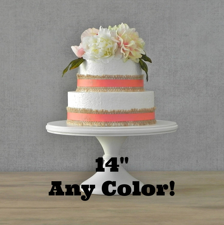 14 Cake Stand Wedding Cake Stand White Pedestal Stand