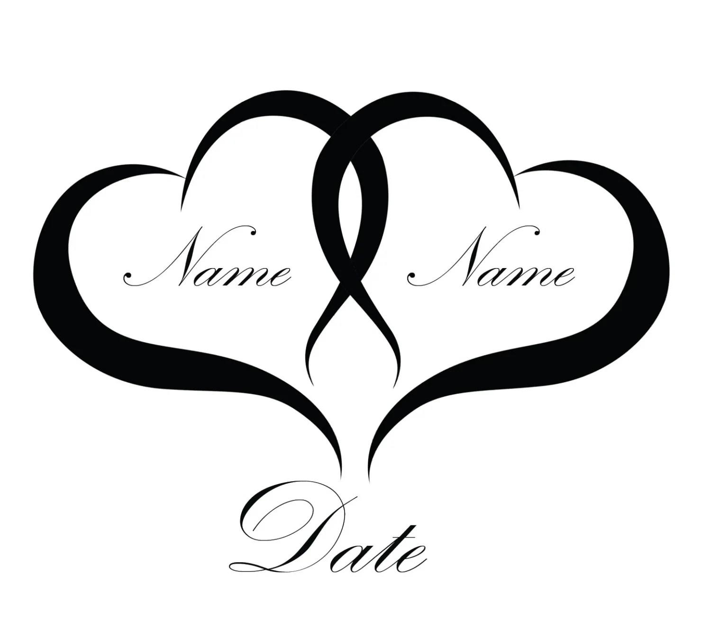 Nome Amp Nozze Data Matrimonio Temporaneo Tatuaggi Somaarttattoo