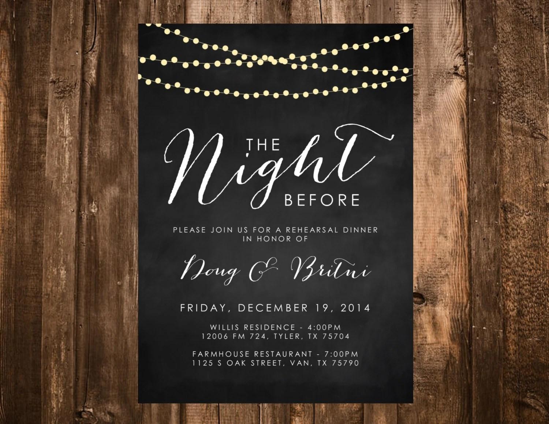 Chalkboard Wedding Invitation Sets
