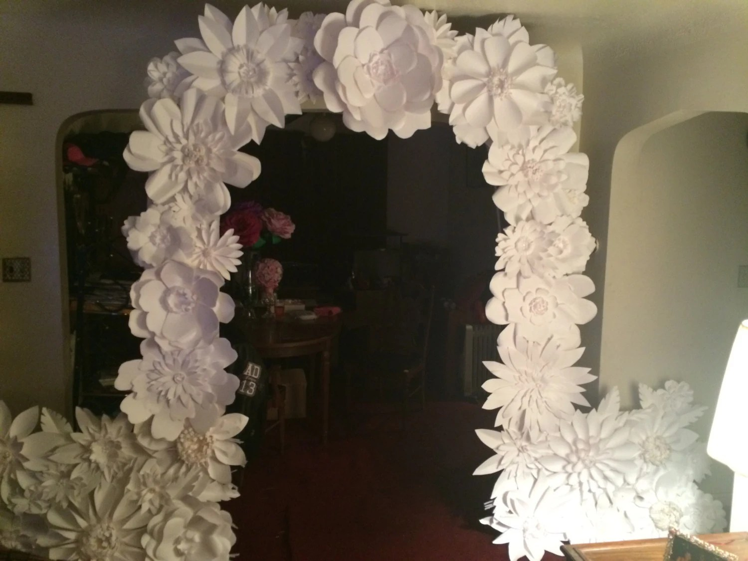 Paper Flower Wedding Arch And Or Backdrop 8ft FREE
