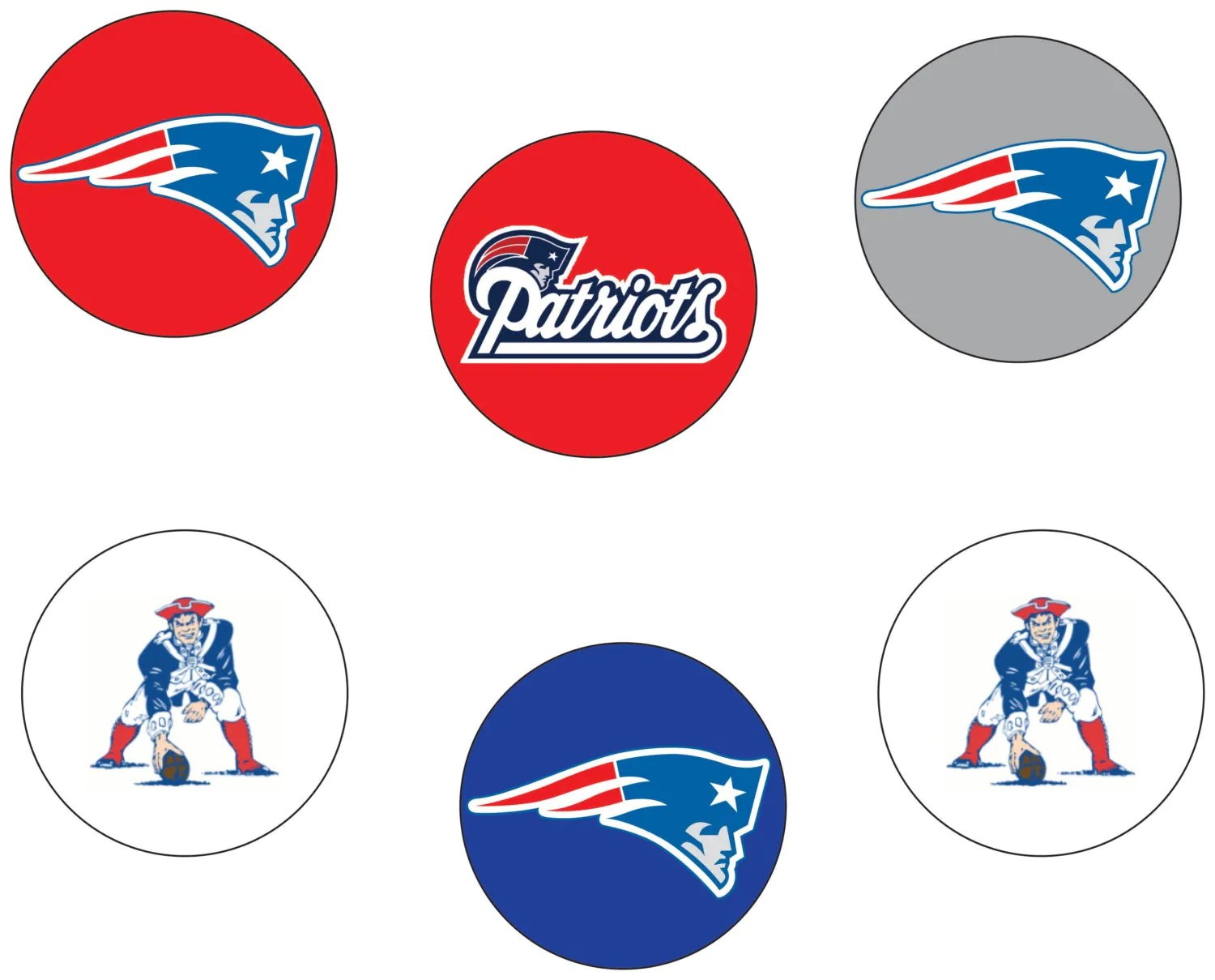New England Patriots Printable Tags Easy Party Decorations