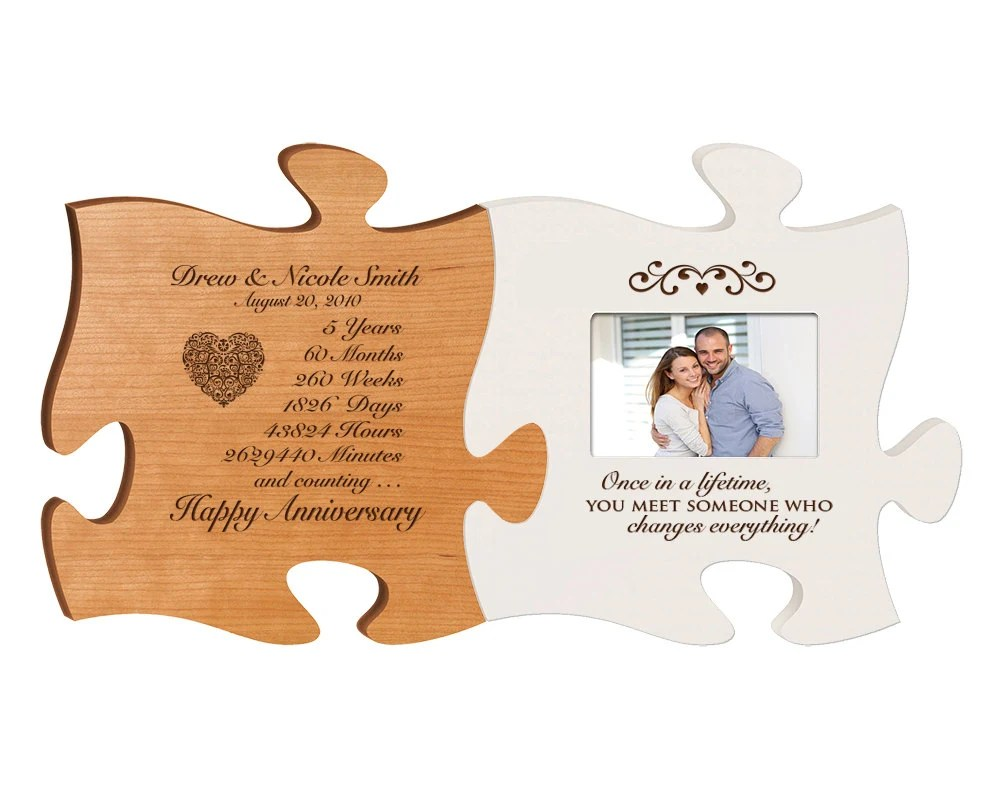 Personalized 5th Anniversary Gift For Him,Fifth