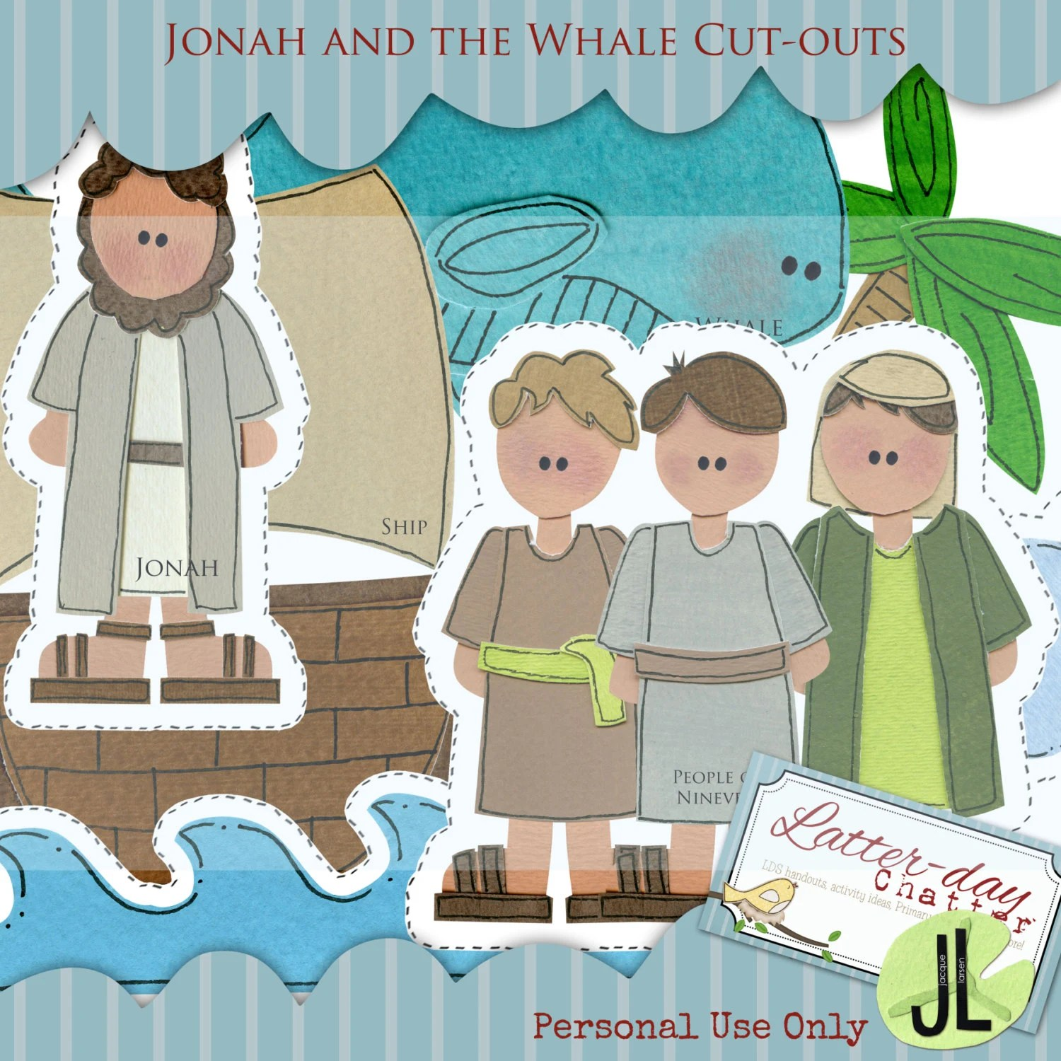 Jonah And The Whale Jumbo Cut Outs By Latterdaychatter On Etsy
