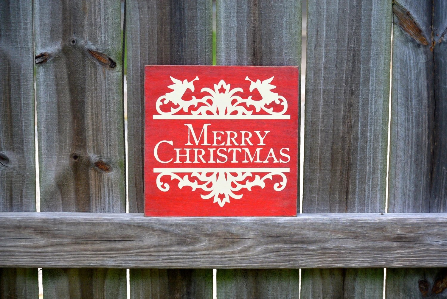 Christmas Decor Merry Christmas Sign Rustic By