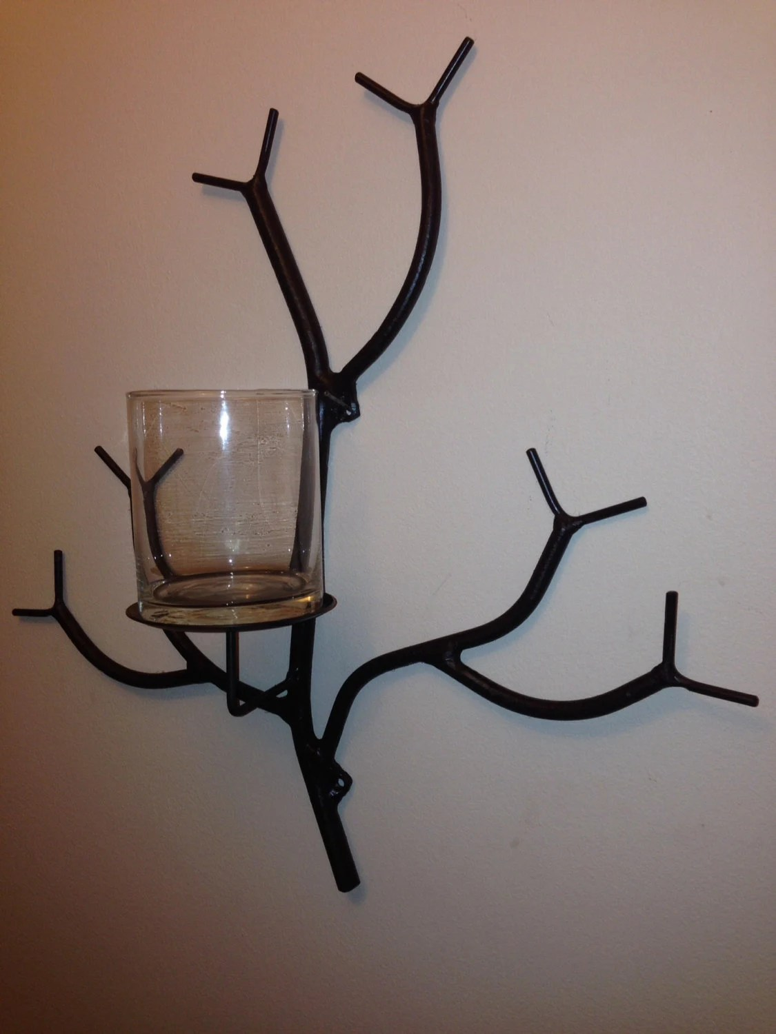Sconce Branch candle holder unique wall mounted tree limb on Wall Mounted Candle Sconce id=18604