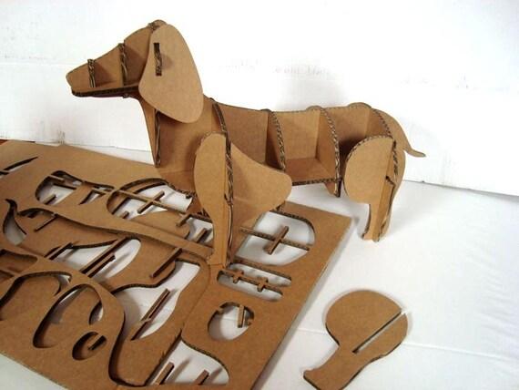 Dachshund Cardboard Sculpture