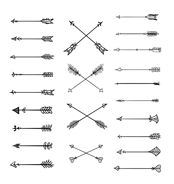 Head Green Drawings Arrows