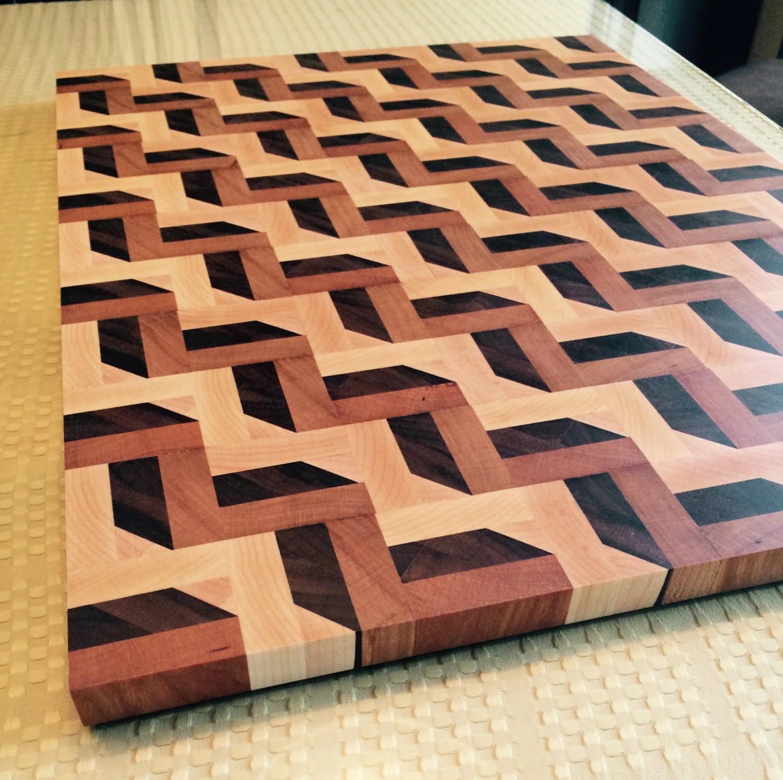3d Patterned Zig Zag Cutting Board